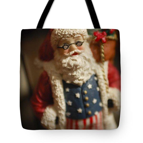 Santa Claus - Antique Ornament - 15 Tote Bag by Jill Reger