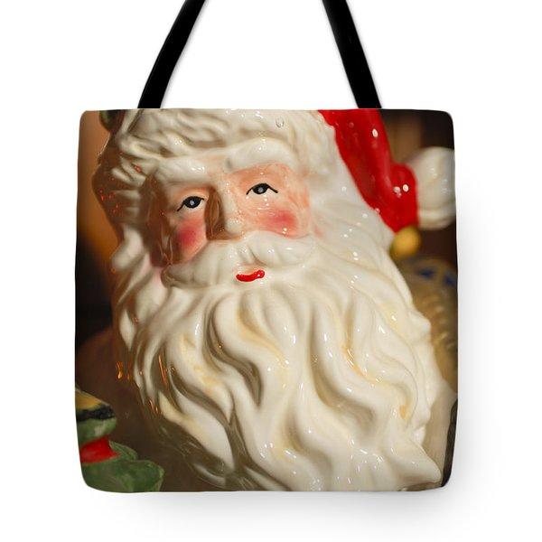 Santa Claus - Antique Ornament - 19 Tote Bag by Jill Reger