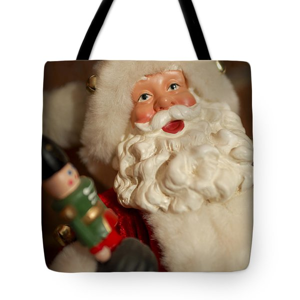 Santa Claus - Antique Ornament - 25 Tote Bag by Jill Reger