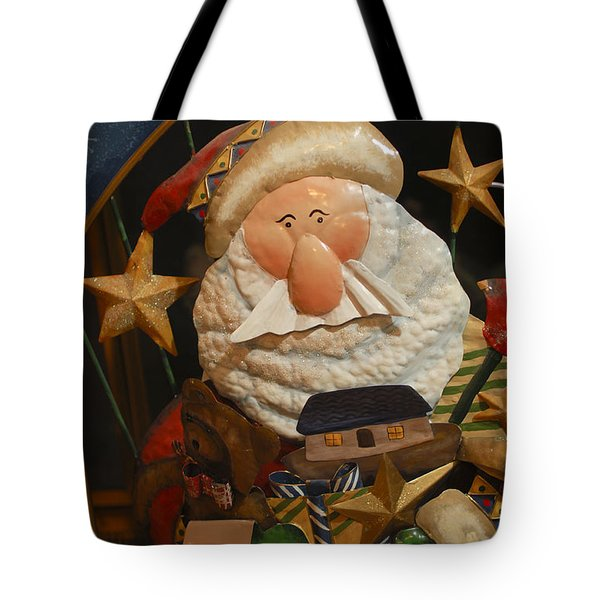 Santa Claus - Antique Ornament - 27 Tote Bag by Jill Reger