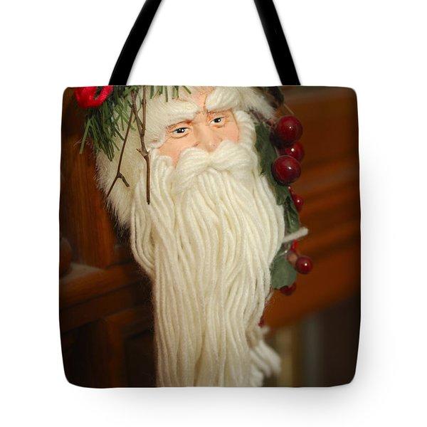 Santa Claus - Antique Ornament - 29 Tote Bag by Jill Reger