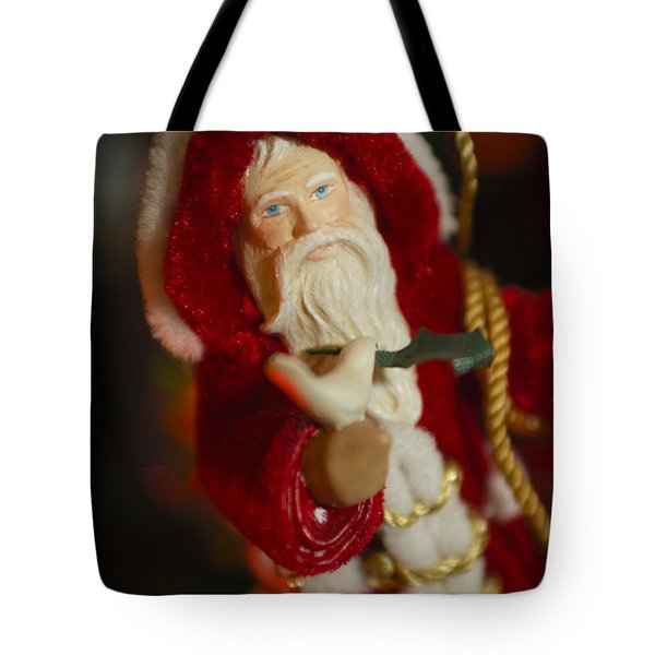 Santa Claus - Antique Ornament - 32 Tote Bag by Jill Reger