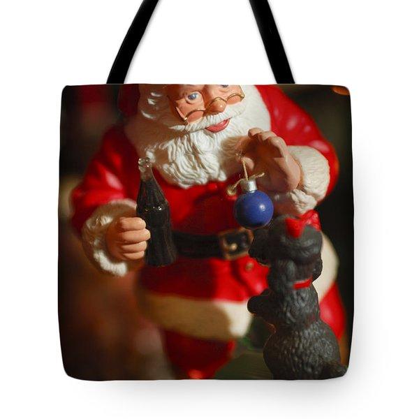 Santa Claus - Antique Ornament - 33 Tote Bag by Jill Reger