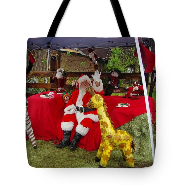 Santa Clausewith The Animals Tote Bag