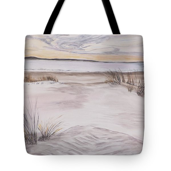 Tote Bag featuring the painting Santa Cruz Sunset by Ian Donley