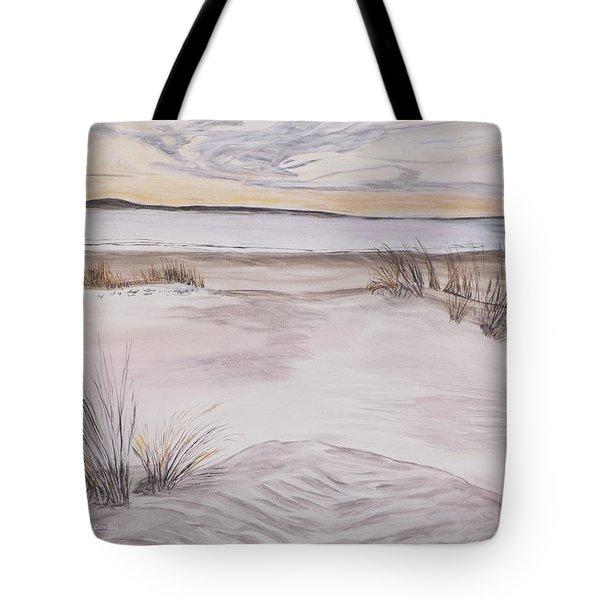 Santa Cruz Sunset Tote Bag by Ian Donley