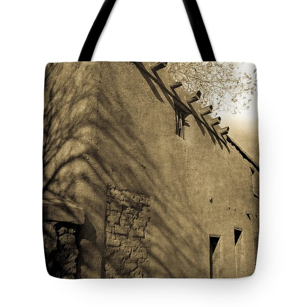 Tote Bag featuring the photograph Santa Fe Adobe by Jennifer Wright