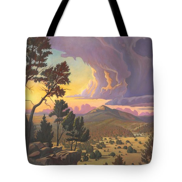 Santa Fe Baldy - Detail Tote Bag by Art James West