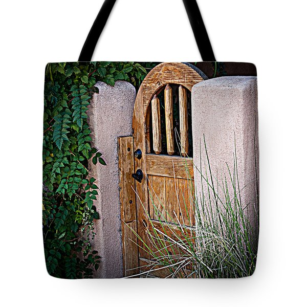 Tote Bag featuring the photograph Santa Fe Gate by Patrice Zinck