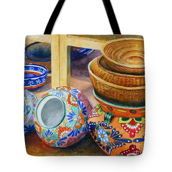 Santa Fe Hold 'em Pots And Baskets Tote Bag