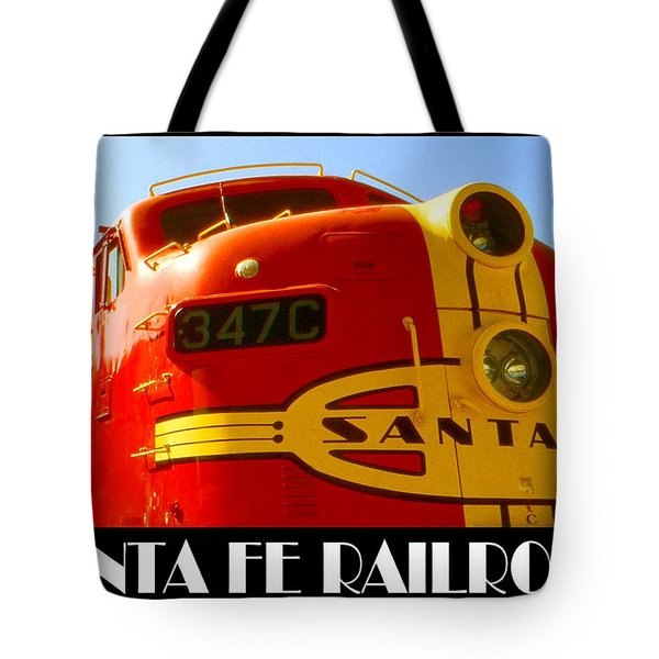 Santa Fe Railroad Color Poster Tote Bag