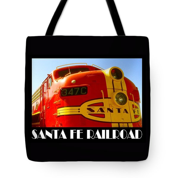 Santa Fe Railroad Color Poster Tote Bag by Art America Gallery Peter Potter