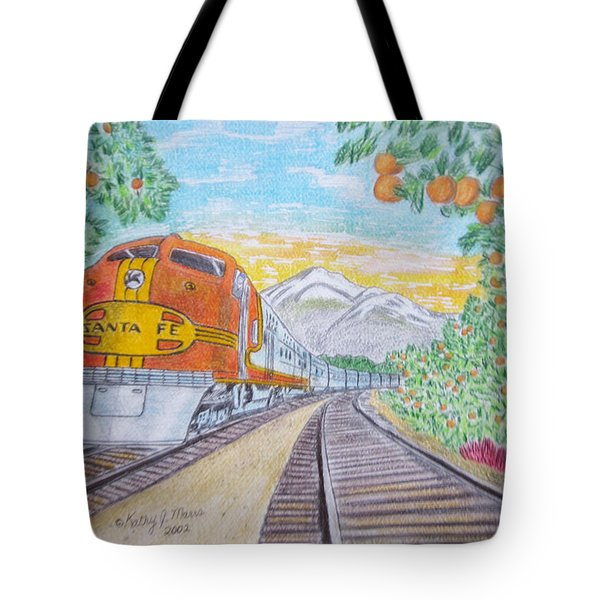 Santa Fe Super Chief Train Tote Bag