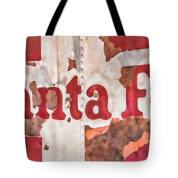 Santa Fe Vintage Railroad Sign Tote Bag