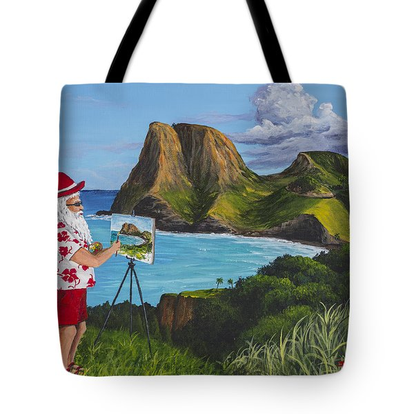 Santa In Kahakuloa Maui Tote Bag