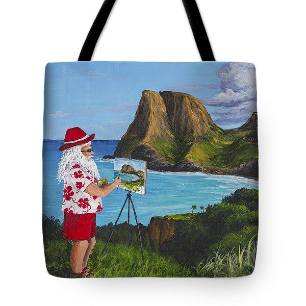Santa In Kahakuloa Maui Tote Bag