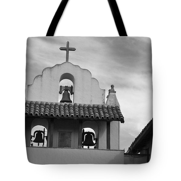 Santa Ines Mission Bell Tower Tote Bag