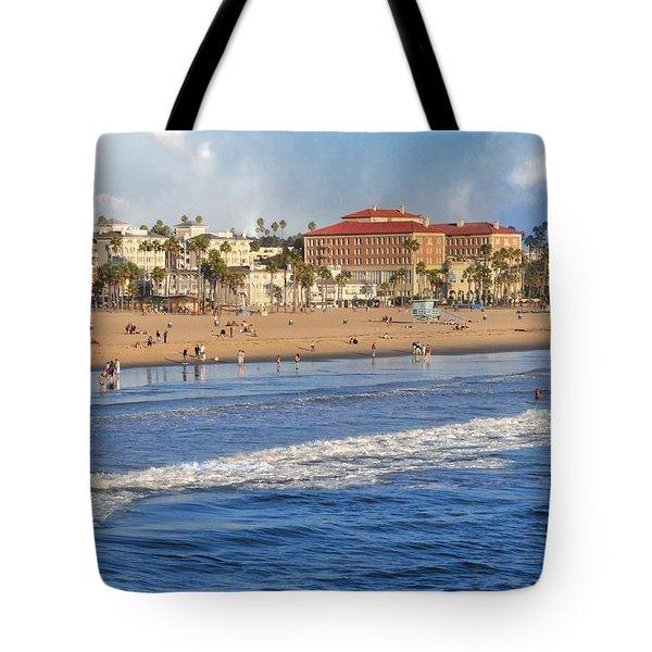 Santa Monica Beach View  Tote Bag by Lynn Bauer