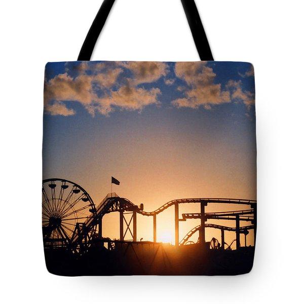 Santa Monica Pier Tote Bag