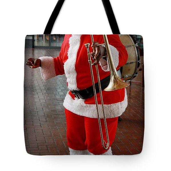 Santa New Orleans Style Tote Bag by Joe Kozlowski