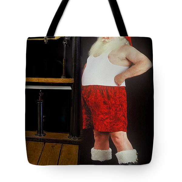 Santa Scaling Back Tote Bag