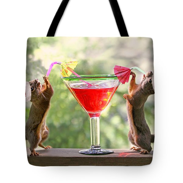 Santa Squirrels Celebrating Christmas Tote Bag