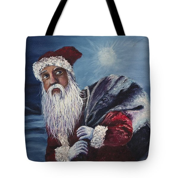 Santa With His Pack Tote Bag