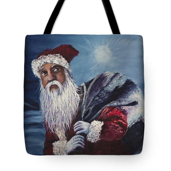 Santa With His Pack Tote Bag
