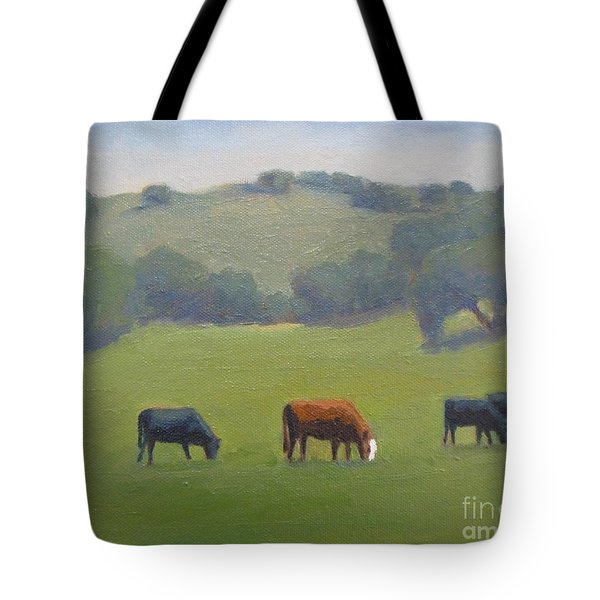 Tote Bag featuring the painting Santa Ynez Cows by Jennifer Boswell