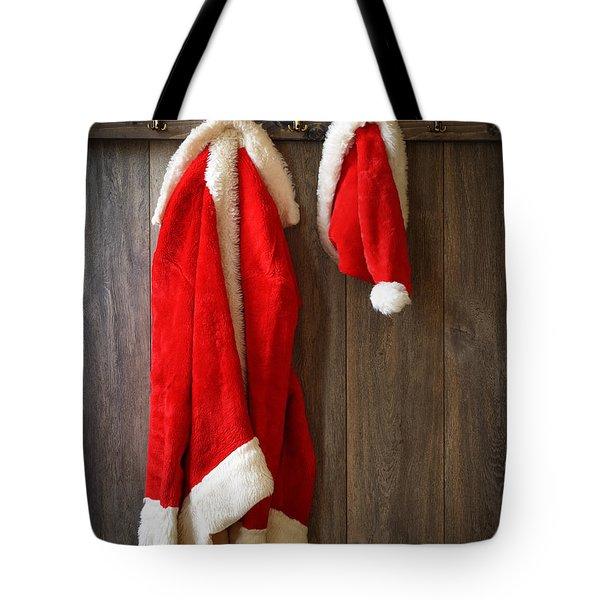 Santa's Coat Tote Bag by Amanda Elwell