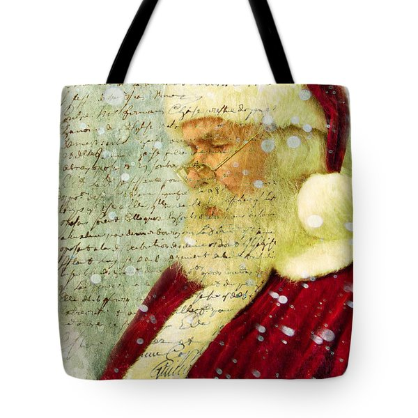 Tote Bag featuring the photograph Santas Letter  by Nada Meeks