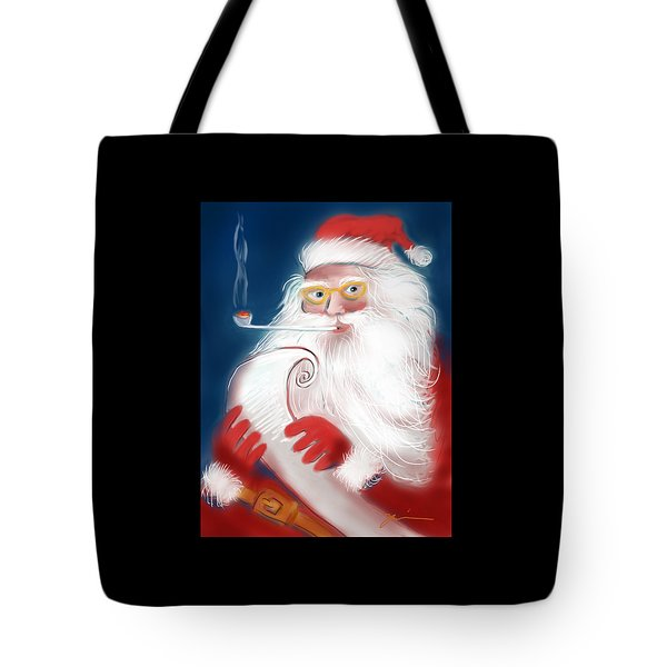 Santa's List Tote Bag by Jean Pacheco Ravinski