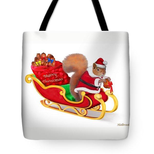 Santa's Little Helper Tote Bag by Glenn Holbrook