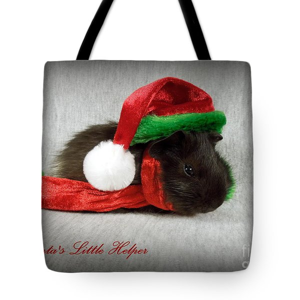 Santa's Little Helper Tote Bag by Renee Trenholm