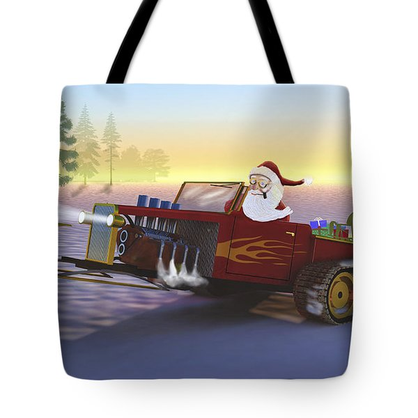 Santa's New Sleigh Tote Bag