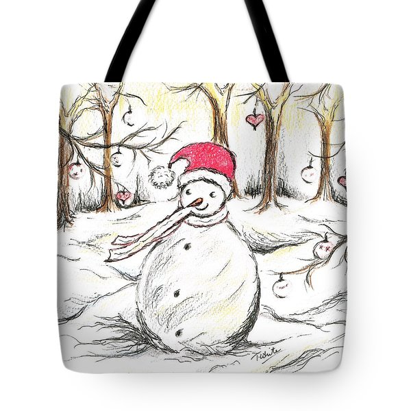 Santa's Snowman Tote Bag