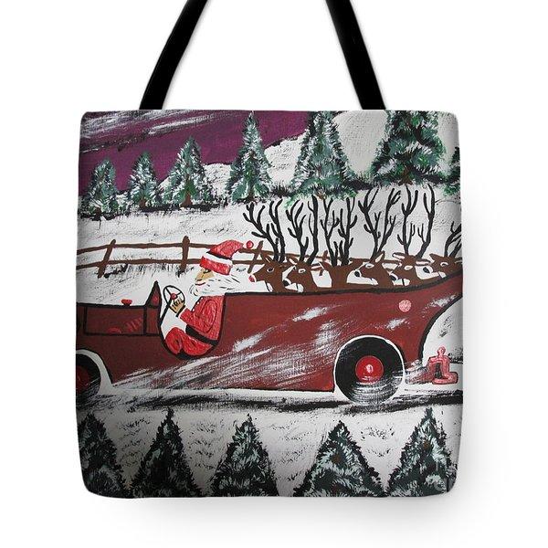Santa's Truckload Tote Bag by Jeffrey Koss