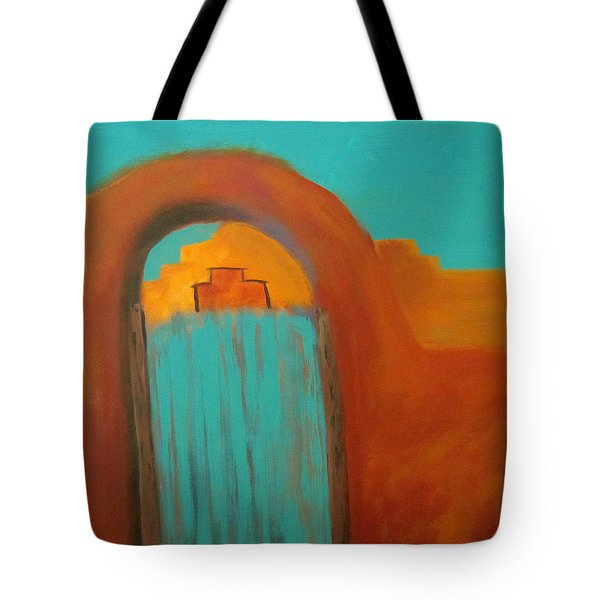 Tote Bag featuring the painting Sante Fe by Keith Thue