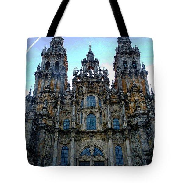 Santiago Skyline Tote Bag