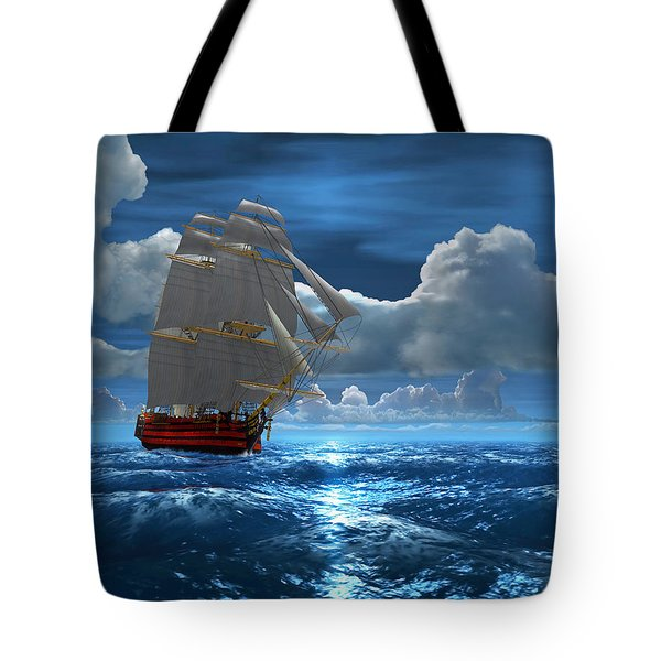 Santisima Trinida In The Moonlight Tote Bag