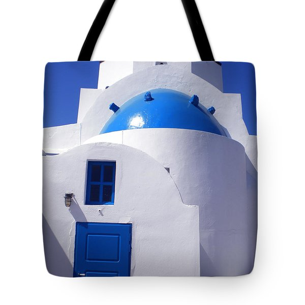 Tote Bag featuring the photograph Santorini Church  by Colette V Hera  Guggenheim