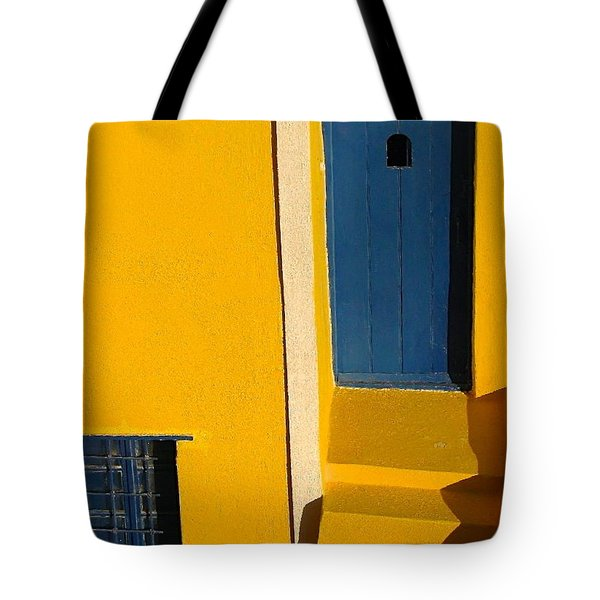 Santorini Doorway Tote Bag