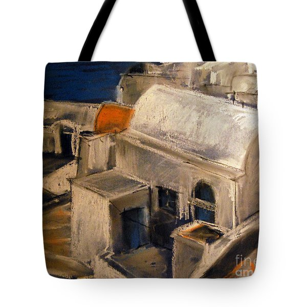 Santorini Tote Bag by Mona Edulesco