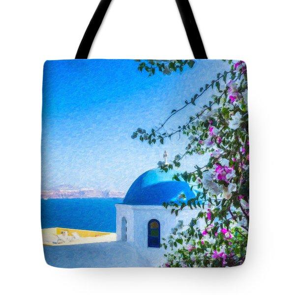 Santorini Grk4166 Tote Bag