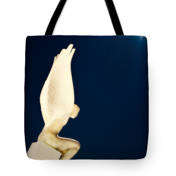 Tote Bag featuring the photograph Santorini Guardian by Meirion Matthias
