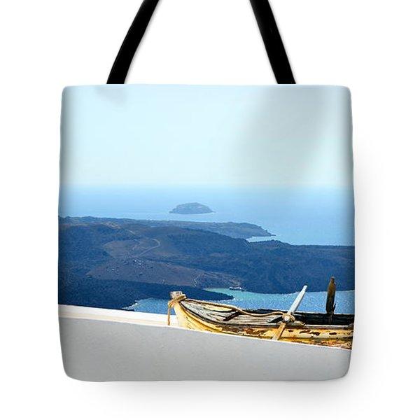Santorini Rooftop Tote Bag