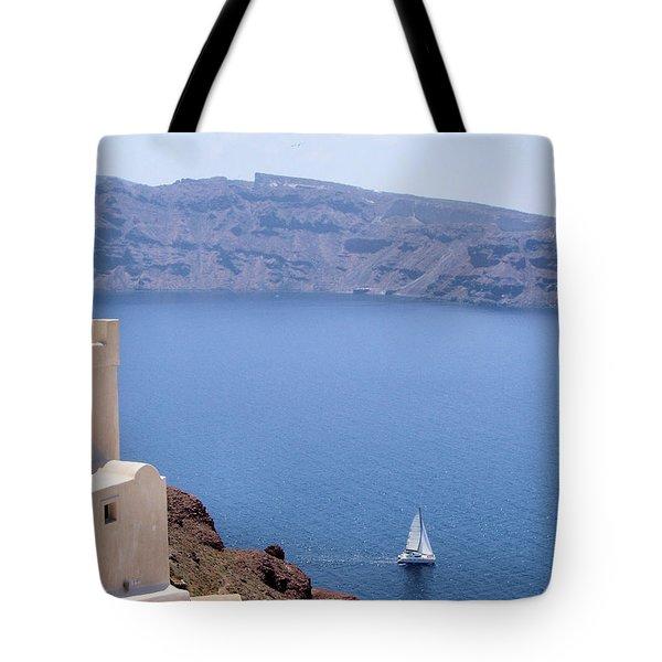 Santorini Sail Tote Bag