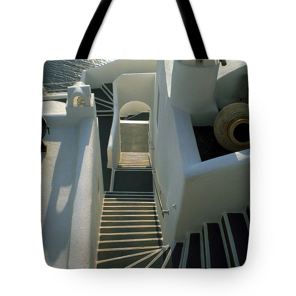 Tote Bag featuring the photograph Santorini Stairs by Colette V Hera  Guggenheim