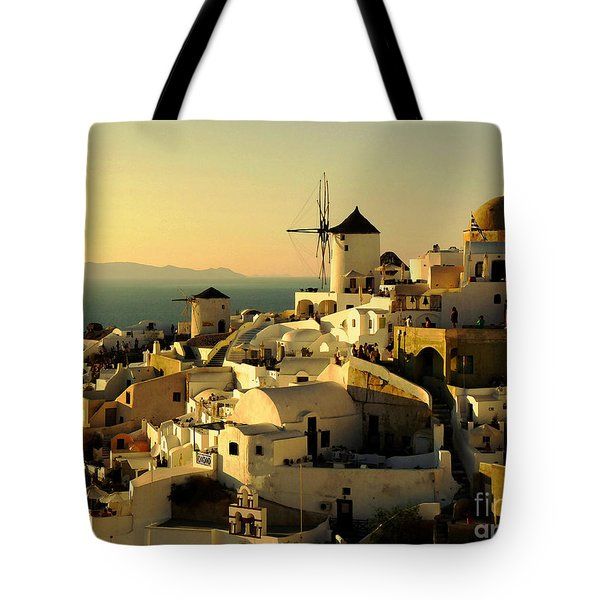 Santorini Sunset Tote Bag