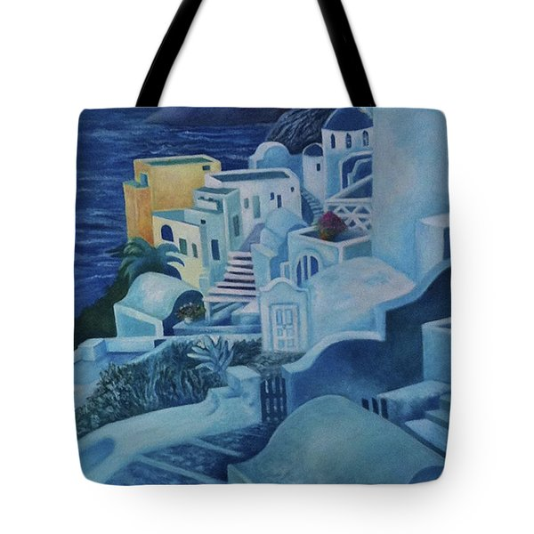 Santorini Sunset Tote Bag
